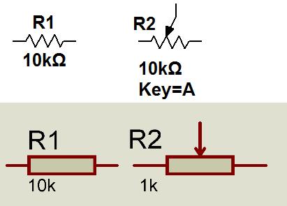 Номиналы резисторов отличаются