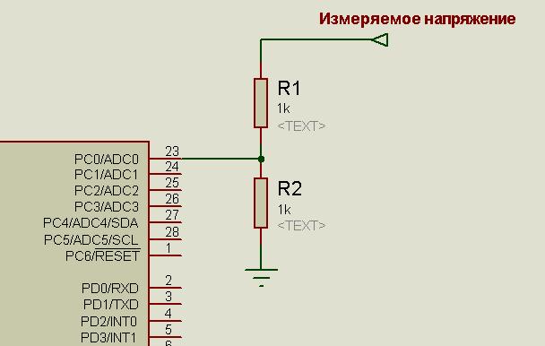 т.е. можно взять любые два одинаковых резистора и подключить их по схеме.